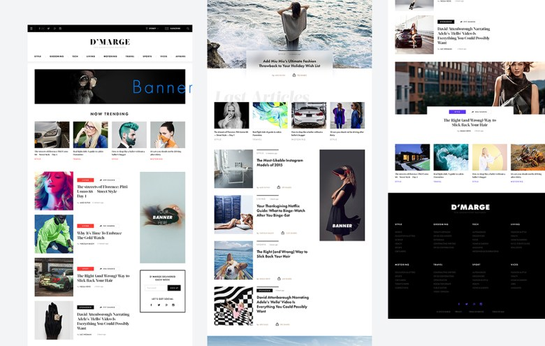 Fashion News Template detail