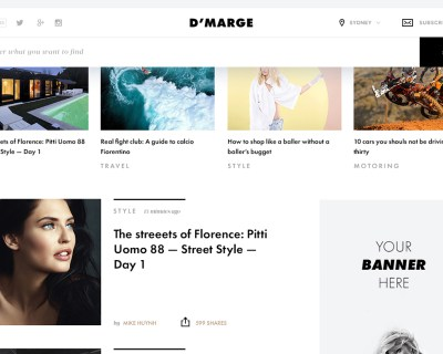 Fashion News Template overview