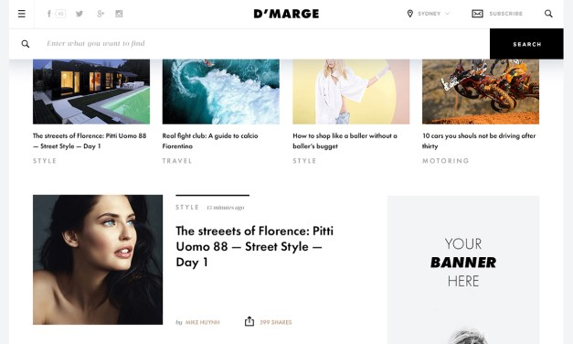 D'Marge : Fashion News Template