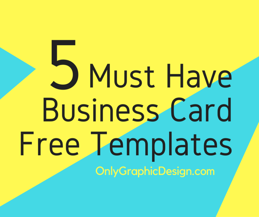 Must Have Business Card Template