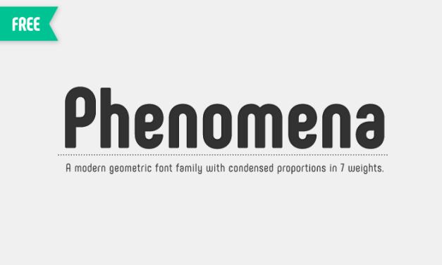 Phenomena Modern Sans Serif Font