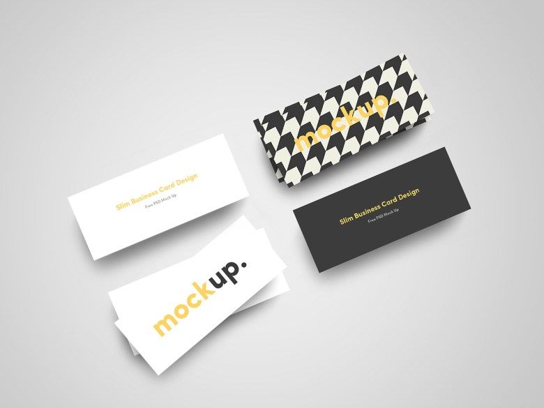 Slim Business Card Mock Up 02