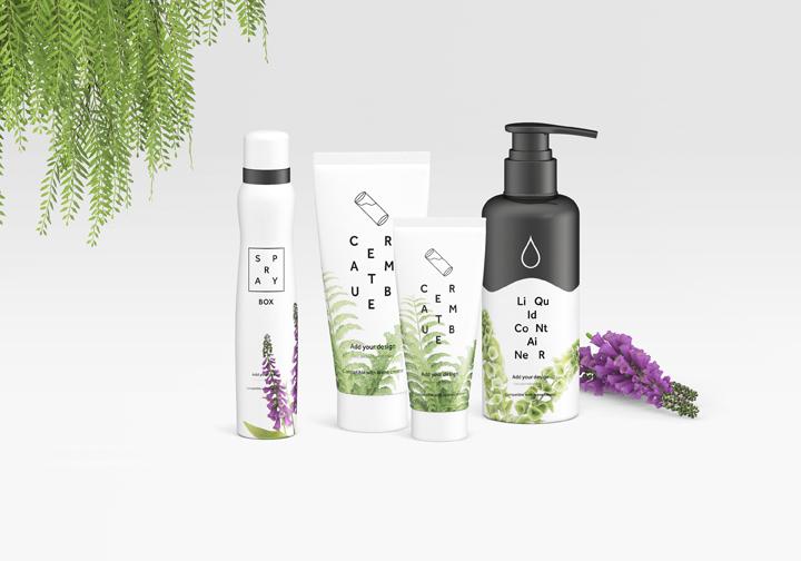 Cosmetics Stationery Mockup