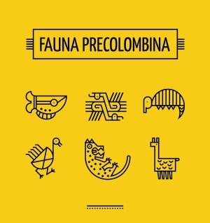 fauna-precolombina-icon-set