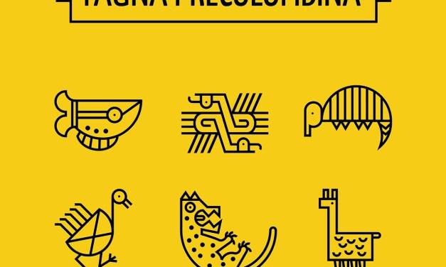 Fauna Precolombina icons set