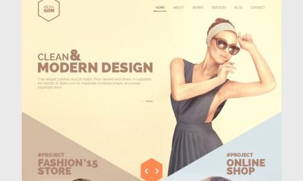 Hexagon : One Page Portfolio (Free PSD)