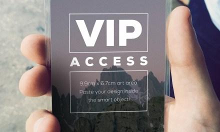 VIP Event Pass Mockup
