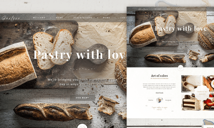 Free Bakery PSD Web Template