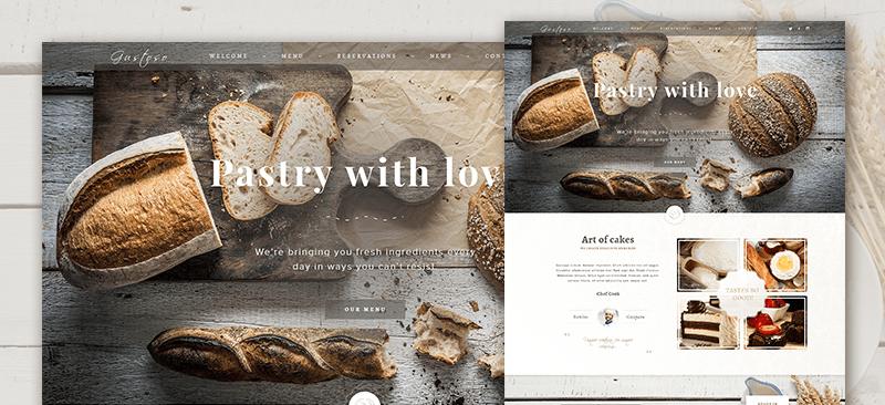 Free Bakery PSD Web Template