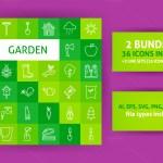 Garden Line Art Icons 01