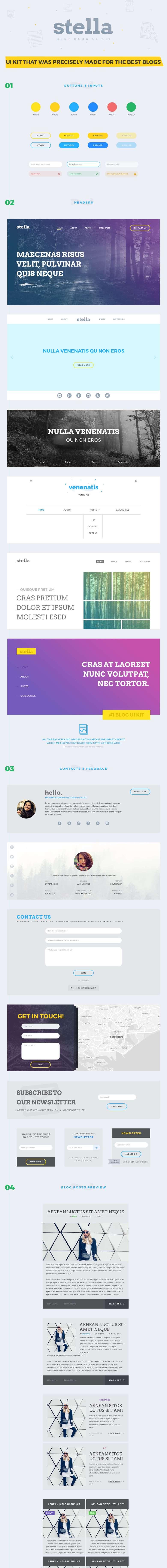 Stella-Blog-Free-UI-Kit-preview