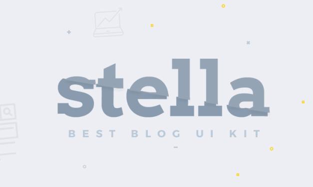 Stella Blog Free UI Kit