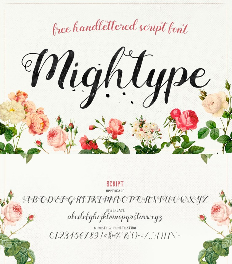 mightype-script-free-handlettered-font