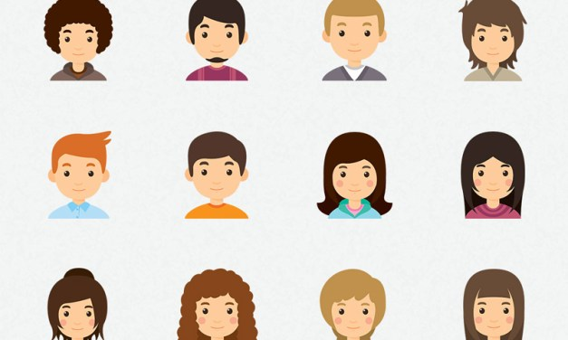 Young Avatar Collection Icons