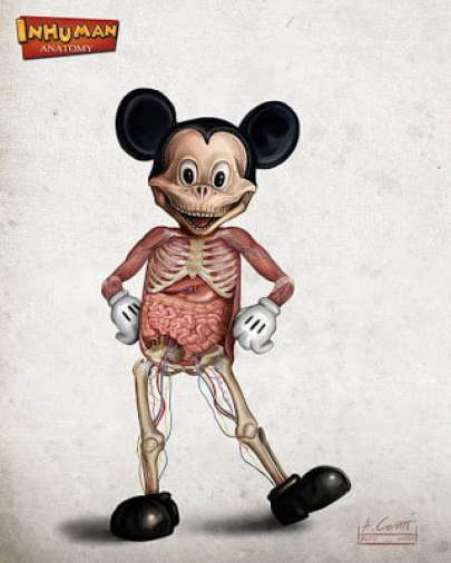 anatomized mickey mouse