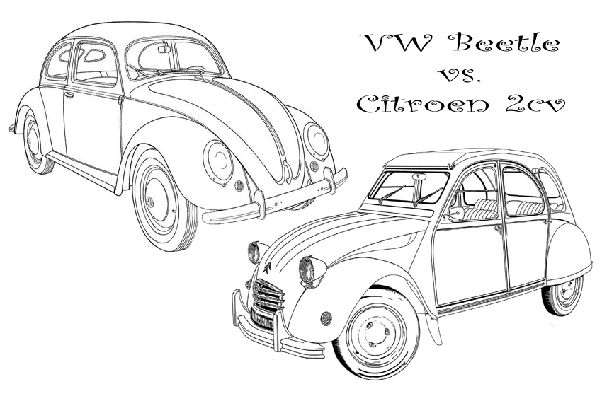 Color in your favorit coloring pages of cars with some