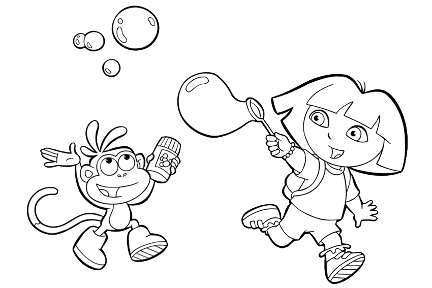 Blowing Bubbles Pages Coloring Pages