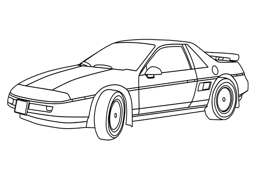 Color in your favorit cars coloring page with some bright