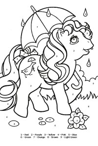 Pony Game Coloring Pages
