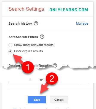 mobile-me-searchsafe-kaise-on-kare