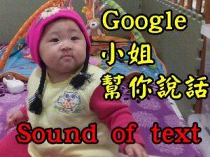 [線上工具]Sound of text讓Google小姐幫你說出你想說的話。