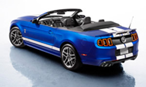 blue 2013 shelby convertible