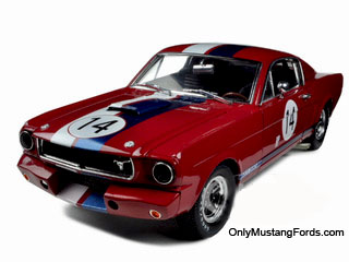 66 shelby gt350R die cast model in red