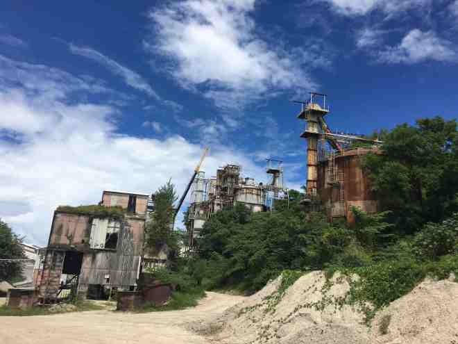 The old phosphate mine - which created all of the islands historical wealth