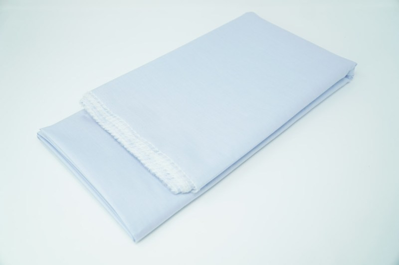 light blue solid cotton face mask material