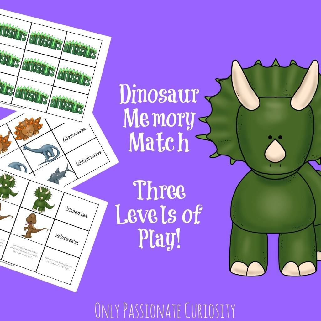 Dinosaur Fact Card Matching Game Only Passionate Curiosity