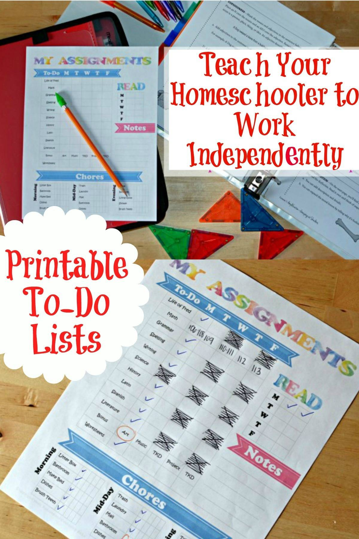 How To Teach Your Homeschooler To Work Independently