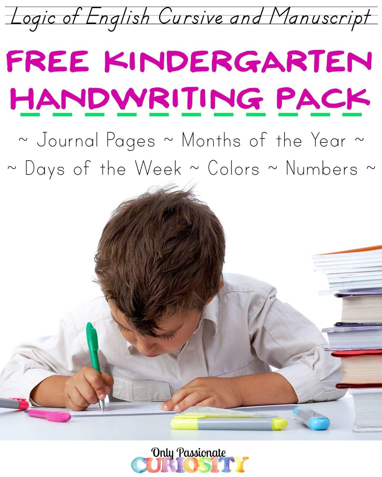 Kindergarten Basics Copywork And Journaling Printable