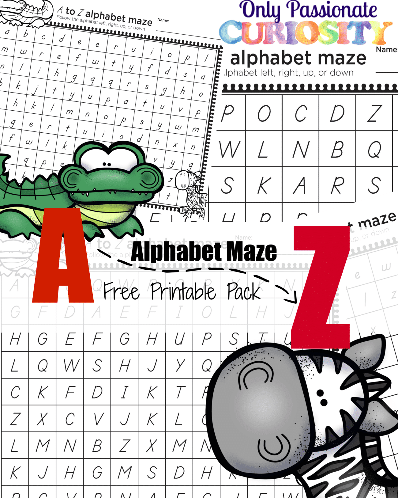 Abc Animal Alphabet Maze Pack