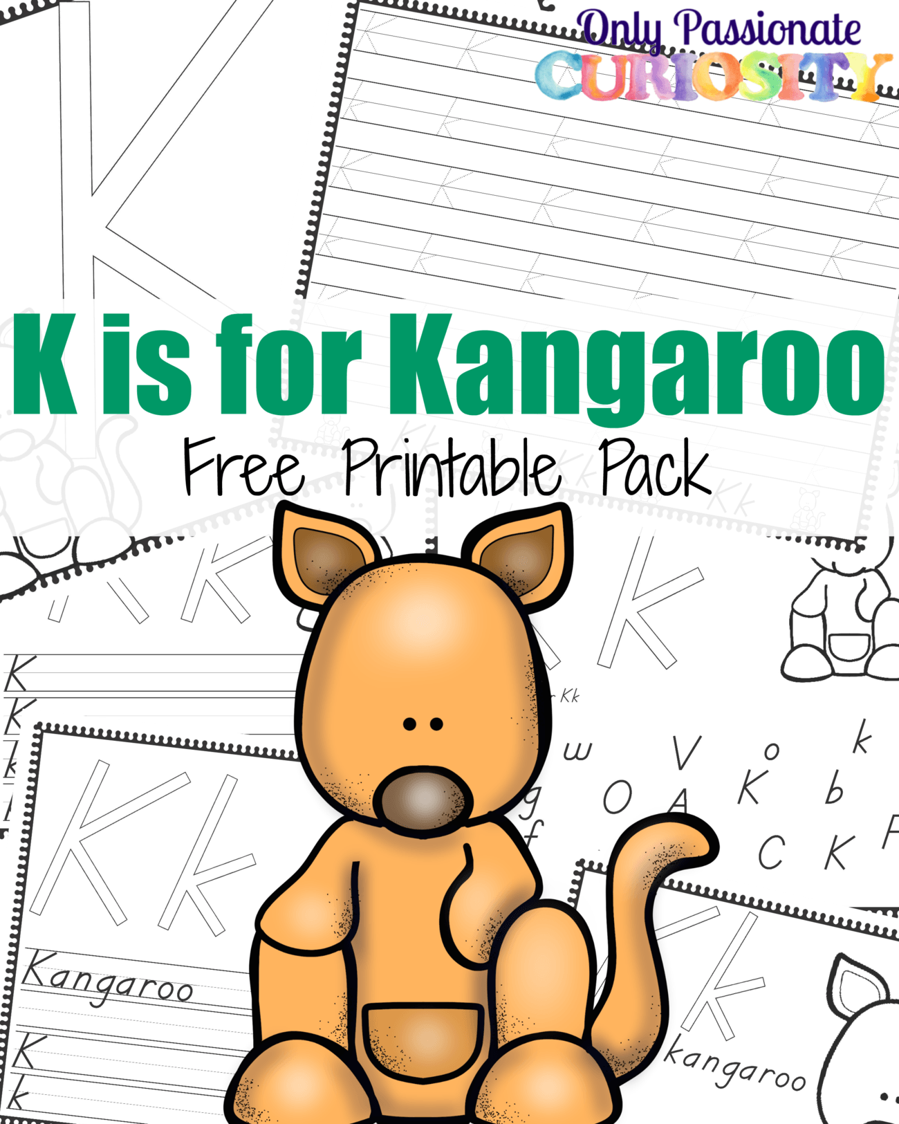 K Is For Kangaroo Handwriting Activity Pack
