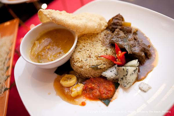Briyani Beef and Papadum