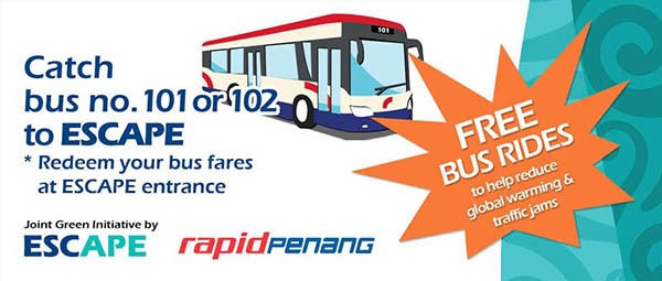 Free Bus Rides to Penang ESCAPE