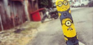 Meet Minions in Penang, Lorong Soo Hong by Ernest Zacharevic.