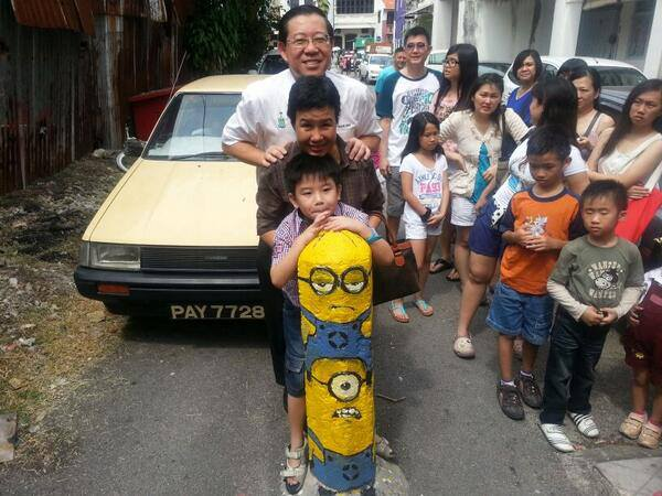 The Minions and CM Lim Guan Eng family