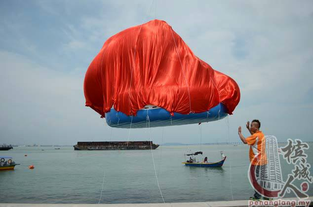 Cost RM60,000 UBAH inflatable giant bird, today in Sungai Pinang IJM Promenade