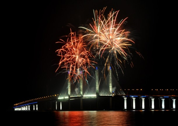 Penang Second Bridge Fireworks