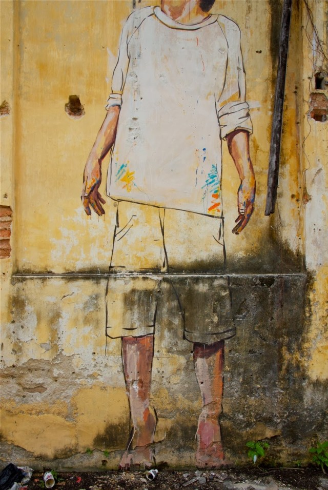 """Penang Ernest Zacharevic """"Art Is Rubbish Is Art"""""""