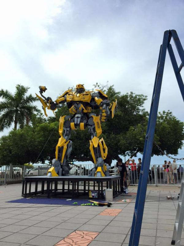 bumblebee Transformers Street Art at Penang Esplanade