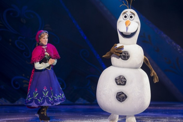 Penang Disney On Ice, Frozen Anna and snowman Olaf