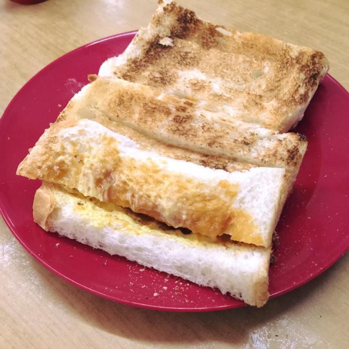 Penang Simpang Ampat Kheng Hai Kopitiam Duck Egg Kaya Toast Bread