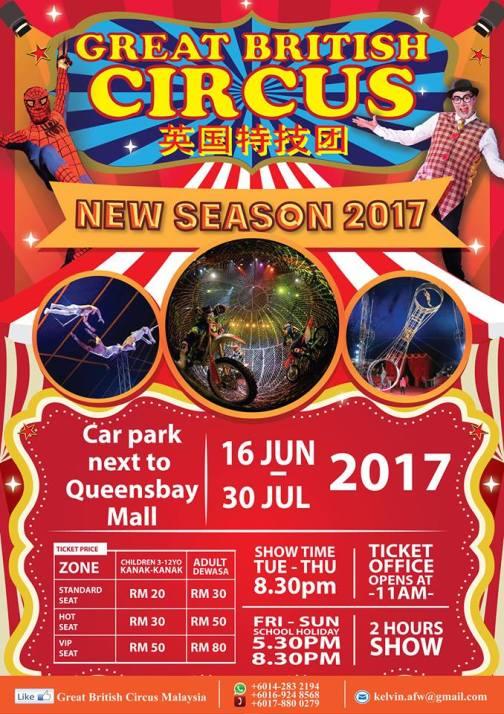 Penang Circus in Malaysia