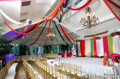 Custom Mandap turns to Stage Backdrop