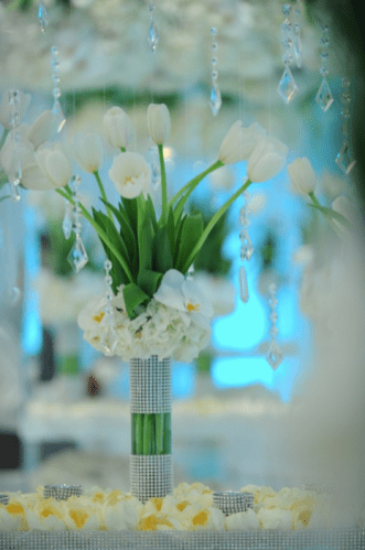 White Tulips & Crystals