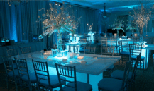White Wedding with LED Tables