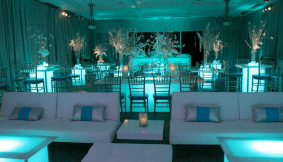 Lounge, LED Tables & Crystal Tree Centerpieces
