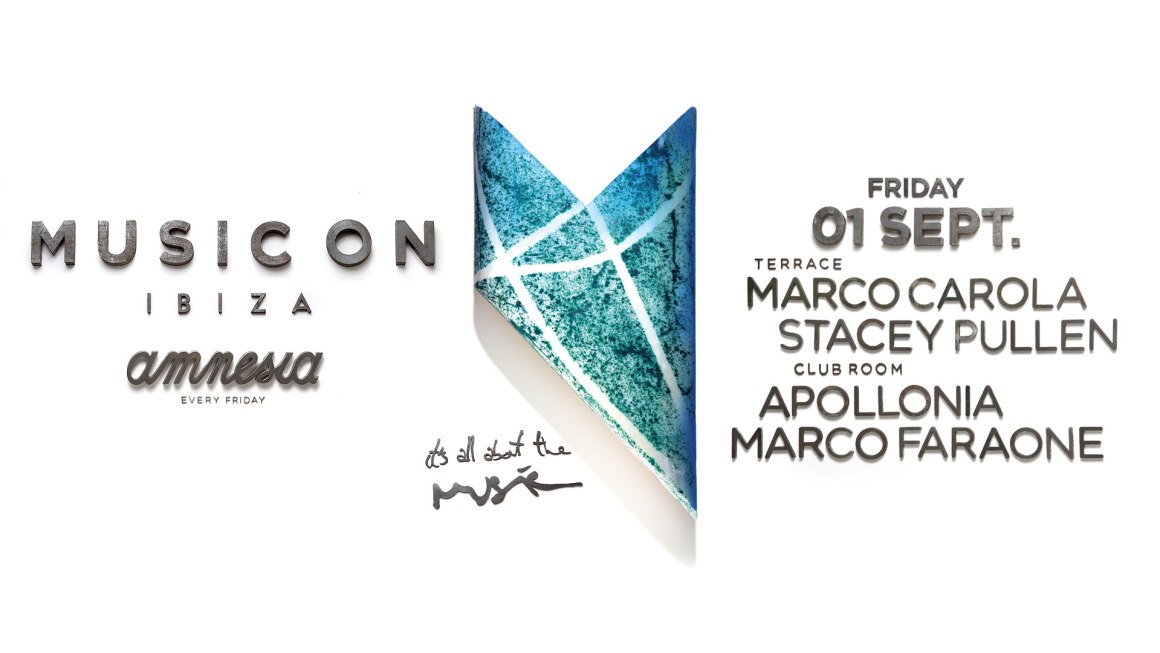 Music On September 1st: Marco Carola, Stacey Pullen, Apollonia and Marco Faraone